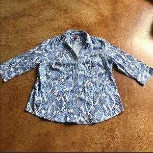 212 Collection XL snake pattern button up shirt